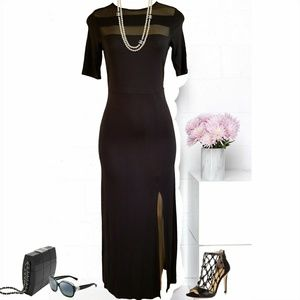 Monteau Maxi Dress withMesh panels and back